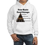 Four Basic Food Groups Hooded Sweatshirt