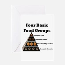 Four Basic Food Groups Greeting Card