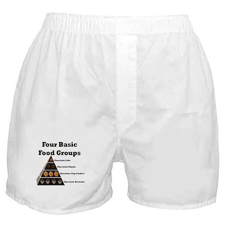 Four Basic Food Groups Boxer Shorts