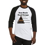 Four Basic Food Groups Baseball Jersey