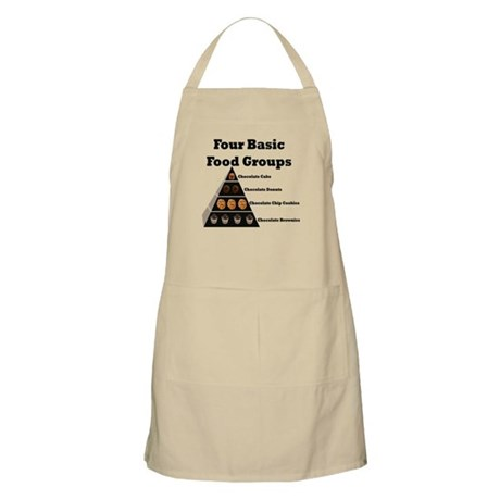 Four Basic Food Groups BBQ Apron