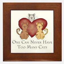 Too Many Cats Framed Tile