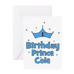 1st Birthday Prince Cole! Greeting Card