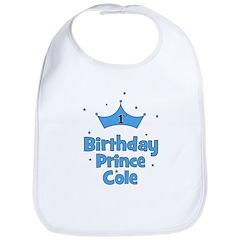 1st Birthday Prince Cole! Bib
