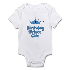 1st Birthday Prince Cole! Infant Bodysuit
