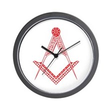 Square & Compass Wall Clock