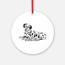Cartoon Dalmatian Ornament (Round)