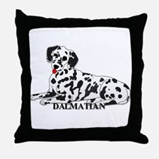 Cartoon Dalmatian Throw Pillow