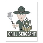 Grill Sergeant Small Poster