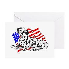 Dalmatian USA Greeting Card