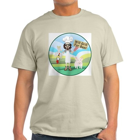 Will Grill for Beer Light T-Shirt