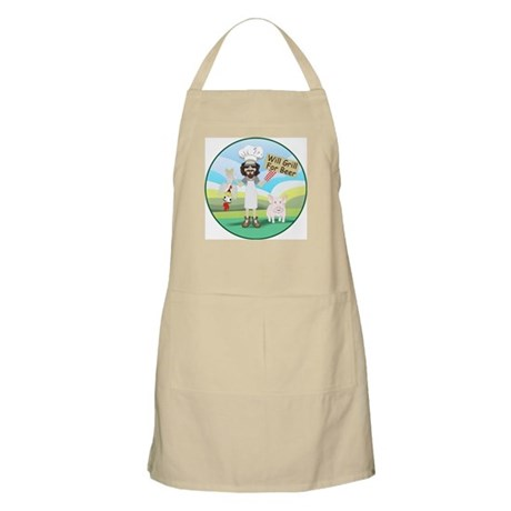 Will Grill for Beer Apron