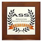 Framed Certification Tile