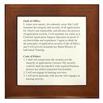 Framed Oath Reminder Tile