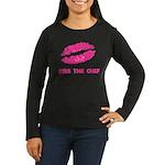 Kiss the Chef Women's Long Sleeve Dark T-Shirt