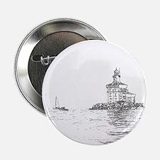 "Christmas Toledo Harbor Light & Ship 2.25"" Button"