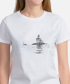 Christmas Toledo Harbor Light & Ship Women's T-Shi