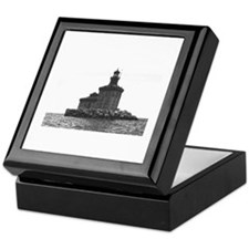 Christmas Toledo Harbor Light & Ship Keepsake Box