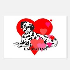 Dalmatian Hearts Postcards (Package of 8)