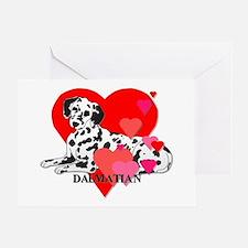 Dalmatian Hearts Greeting Card