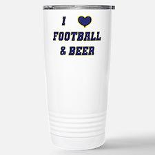I Love Football & Beer Travel Mug