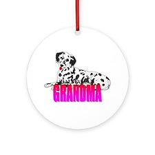 Dalmatian Grandma Ornament (Round)