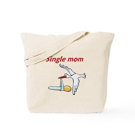 Single Mom Stork Tote Bag