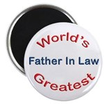 "W Greatest Father In Law 2.25"" Magnet (10 pack)"