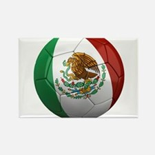 Mexico Soccer Ball Rectangle Magnet