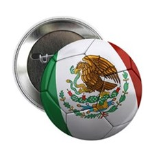 """Mexico Soccer Ball 2.25"""" Button (10 pack)"""