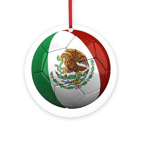 Mexico Soccer Ball Ornament (Round)