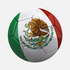 Mexico Soccer Ball Ornament (Round)