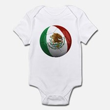 Mexico Soccer Ball Infant Bodysuit