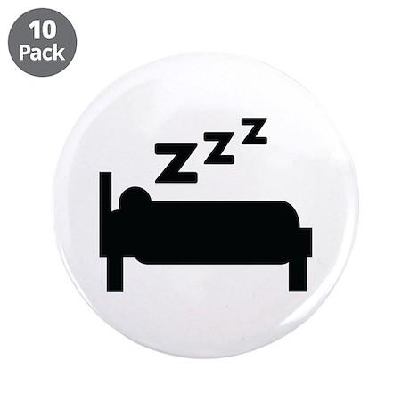 """zzz sleeping 3.5"""" Button (10 pack)"""