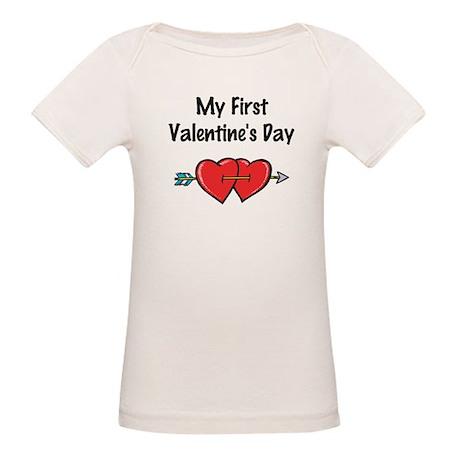 My First Valentine's Day Organic Baby T-Shirt