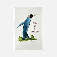 King Penguin Rectangle Magnet