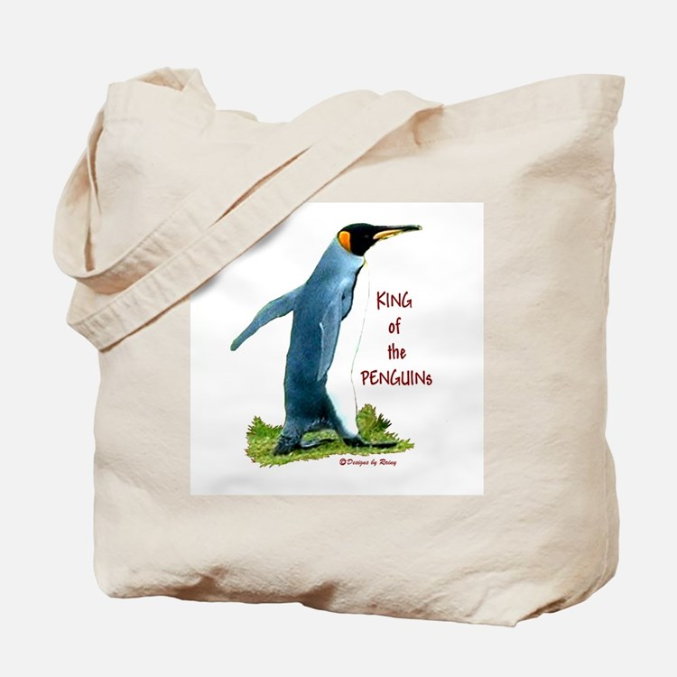 King of the Penguins Tote Bag
