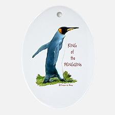 King Penguine Oval Ornament