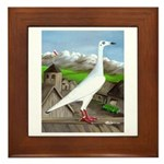 Polish Srebrniak Pigeon Framed Tile