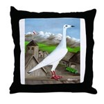 Polish Srebrniak Pigeon Throw Pillow