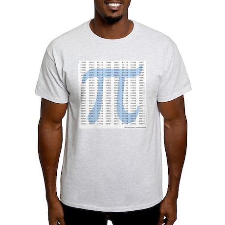 Pi to 1001 Digits Light T-Shirt