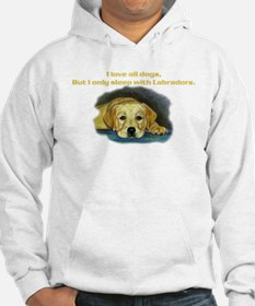 I only sleep with Labradors Hoodie