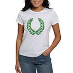 Green laurel on white Women's T-Shirt