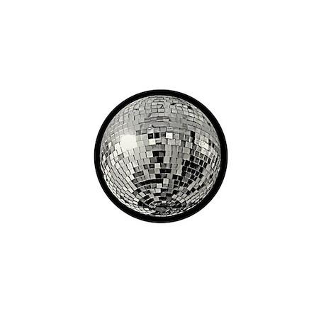 Shiny Disco Mirror Ball Mini Button