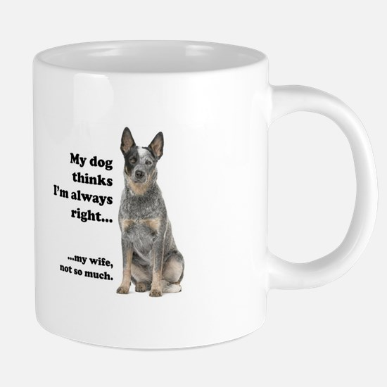 Cattle Dog v Wife 20 oz Ceramic Mega Mug