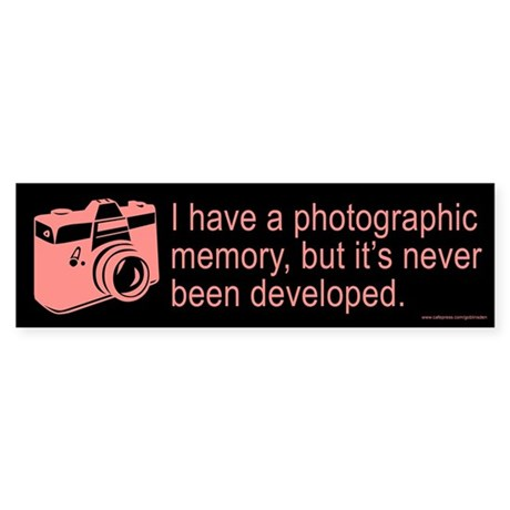 Photographic Memory Red (sticker)