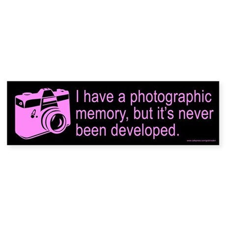 Photographic Memory Purple (sticker)