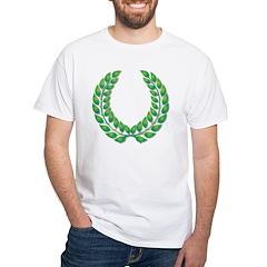 Green laurel on white Shirt