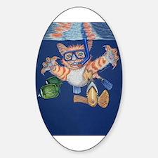 Snorkel Cat Oval Decal