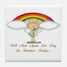 Rainbow Bridge (dog) Tile Coaster